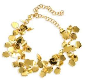Lele Sadoughi Rio Golden Lily Statement Necklace