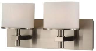 Ombra ELK Lighting 2-Light Vanity White Opal Glass