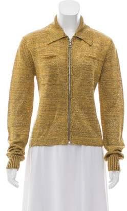 Dries Van Noten Collared Knitted Jacket