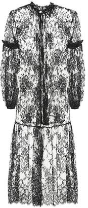 Alexander McQueen Longline lace blouse
