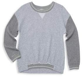 Splendid Girl's Two-Tone French Terry Top