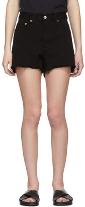 Rag and Bone Black Denim Justine Shorts