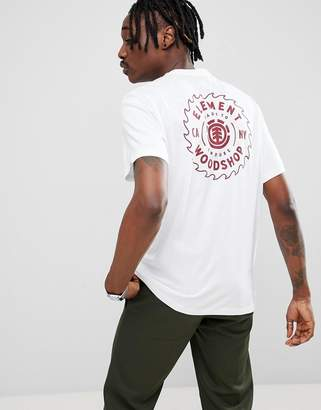 Element Blade Back Print T-Shirt In White