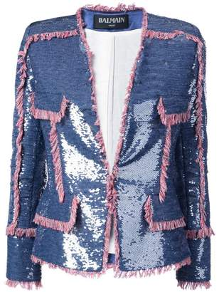 Balmain sequin-embellished jacket