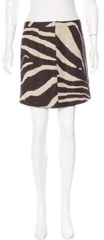 Michael Kors Zebra Print Mini Skirt