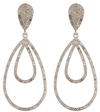 Forever Creations USA Inc. Sterling Silver Simulated Diamond Double Drop Earrings