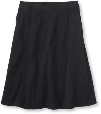 L.L. Bean L.L.Bean Gored Skirt, Twill