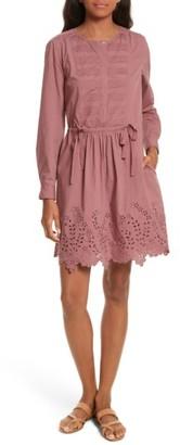 Women's La Vie Rebecca Taylor Eyelet Poplin Dress