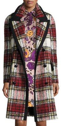 Burberry Plaid Wool/Mohair-Blend Coat, Elderberry $3,695 thestylecure.com