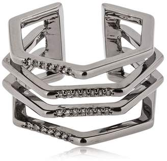 Cage Ring W/ Crystals