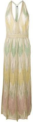 M Missoni zig-zag knitted evening dress