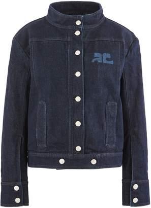 Courreges Denim logo jacket
