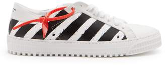 Off-White Striped low-top leather sneakers
