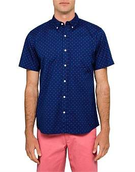 David Jones Short Sleeve Geo Print Shirt