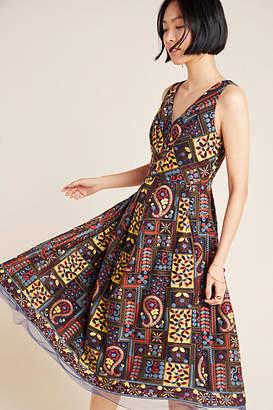 Eva Franco Cecily Embroidered Midi Dress