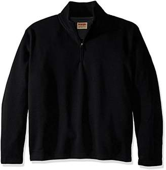 Wrangler Authentics Men's Big-Tall Sweater Fleece Quarter-Zip,3XL