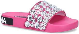Dolce & Gabbana Embellished Slides