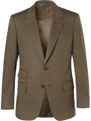 Kingsman Eggsy's Olive Stretch-Cotton Twill Suit Jacket