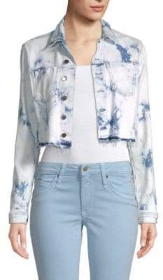 L'Agence Zuma Cropped Denim Jacket