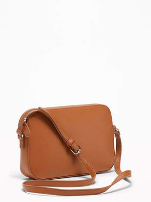 Old Navy Faux-Leather Cross-Body Bag for Women