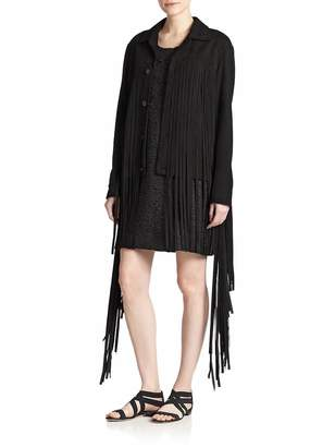 Of Two Minds Women's Suede Fringe Jacket