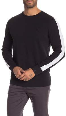True Religion Crew Neck Knit Contrast Stripe Sweater