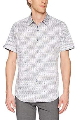 Robert Graham Men's Cuban Tres Short Sleeve Classic Fit Shirt