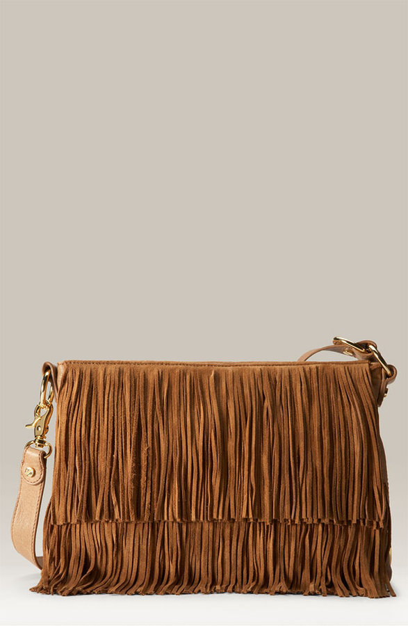 Tory Burch 'Flapper' Fringed Crossbody Clutch