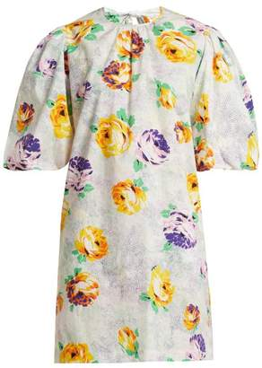MSGM Printed Cotton Poplin Dress - Womens - White Multi