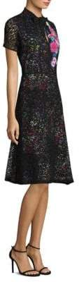 Etro Mille Fleur Lace Overlay Dress