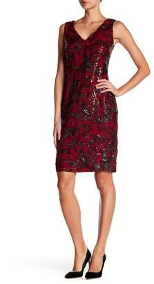 Marina V-Neck Embroidery Sequin Short Dress