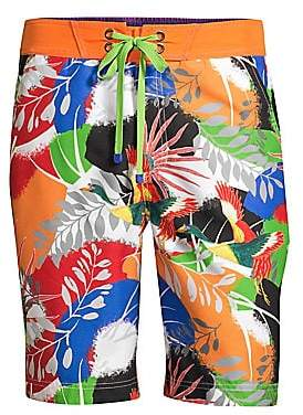 86eb20c06b Robert Graham Men's Matanazas Tropical Print Board Shorts