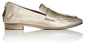 Marsèll Women's Back-Zip Leather Loafers - Gold