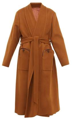 BLAZÉ MILANO Chinook Whistler Wool Blend Coat - Womens - Brown