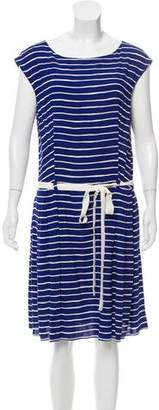 Prada Sleeveless Stripe Dress