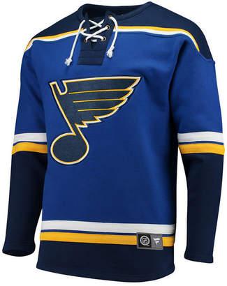 Majestic Men's St. Louis Blues Breakaway Lace Up Crew Sweatshirt
