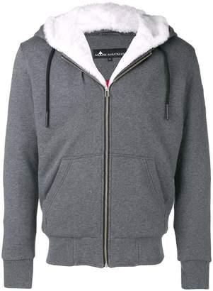 Moose Knuckles faux fur trim zip hoodie