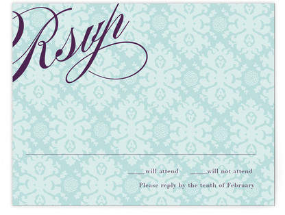 The Gramercy Print-It-Yourself Wedding RSVP Cards