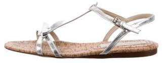 Stella McCartney Metallic T-Strap Sandals