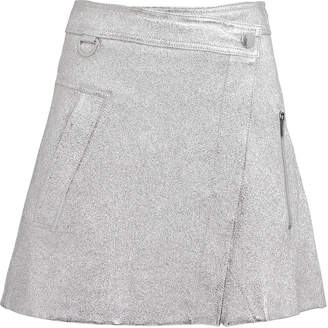 Derek Lam 10 Crosby Metallic Wrap Mini Skirt