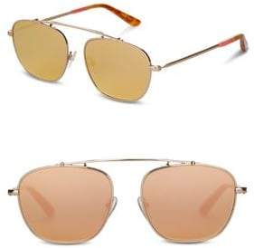 Toms 53MM Riley Aviator Sunglasses