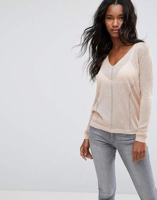 MANGO Hole Textured Sweater