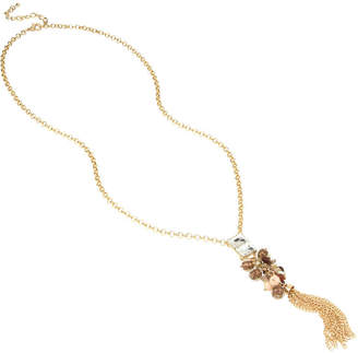 BLEU NYC Bleu Stone Fringe Necklace