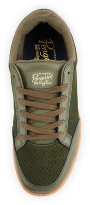 Original Penguin Men's Braylon Perforated Suede Sneakers, Green