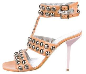 Sonia Rykiel Embellished Patent Leather Sandals