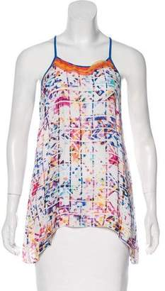Robert Graham Sleeveless Silk Top