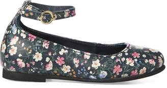 Ralph Lauren Alyssa II Floral Leather Flat