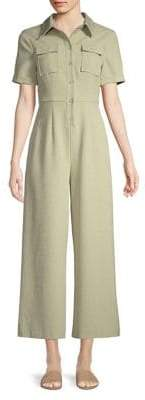 C/Meo CMEO COLLECTIVE Button-Front Wide-Leg Jumpsuit