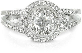 Forzieri 0,58 ctw Diamond 18K White Gold Ring