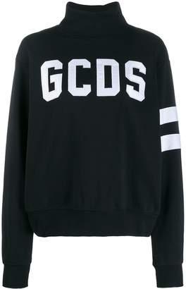 GCDS turtleneck logo-appliqué sweatshirt